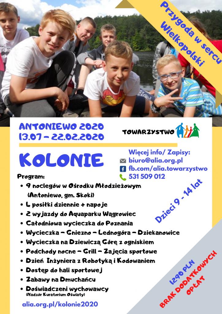 Kolonie - Antoniewo 2020